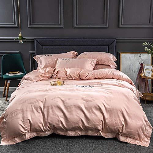 Conjuntos de tapa de edredones Cubiertas de edredones Doble Casa de algodón Conjuntos de cama Rosa de algodón King Tamaño azul Cubiertas de edredones Conjunto de ropa de cama Casa de cama doble Cubier