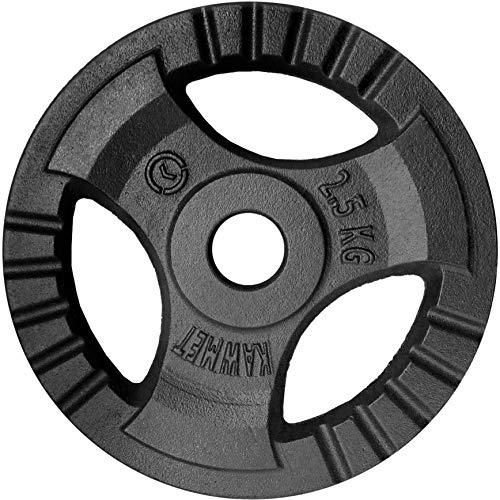 Hantelscheibe Gusseisen Platte Rad Tri-Grip KAWMET 28,5mm 2,5kg