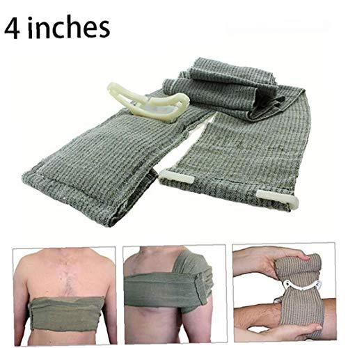 JBNS 1pc Trauma Bandage Israelischen Notfall Bandage Erste-Hilfe-Werkzeug Medizinische Kompressionsbandage Notfall Trauma Bandage Für Outdoor-Survival-Battle (4 Zoll)