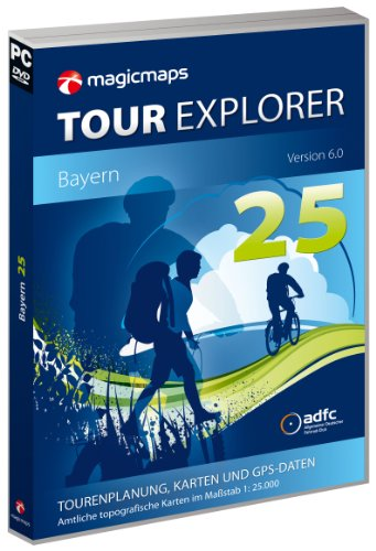 MagicMaps Routenplanungsoftware DVD Tour Explorer 25 By V6.0 Bayern, FA003560022