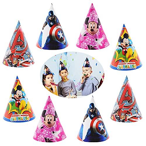 BKJJ 32 Stück Party Hüte Geburtstag Dekoration Set, Partyhüte, Kids Geburtstagsfeier Hüte Dekorationen Adult Fun Party Favors, Alles Gute zum Geburtstag Party Hüte Party Kegel Hüte (10 x 15 cm)