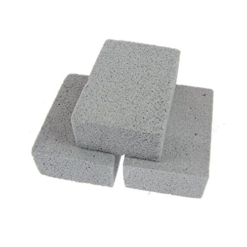 Best Buy! Aoutdoor Gray Pumice Grill Stone Brick Cleaner For Cleaning Grills Pans,Pack of 3