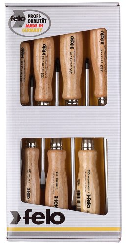 Felo 18108 7-Piece Wooden Screwdriver Set