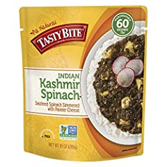 BOLD SPICES: Tasty Bite's Kashmir Spinach Indian Entrée is a delicious way to bring bold, Indian spices to your dinner table. We carefully sauté our fresh spinach in a light curry sauce w/ cubes of creamy paneer cheese. Enjoy over Tasty Bite rice or ...