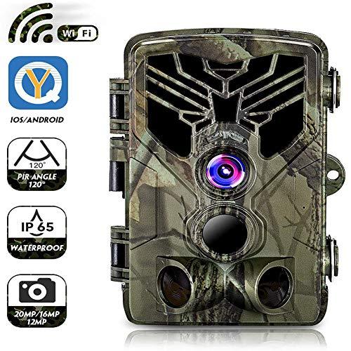 Buy DOOK WiFi Trail Game Camera 20MP 1080p 30fps FHD Waterproof IP65 Wildlife Scouting Hunting Cam w...