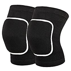 Grofitness Kneepads, Sports Knee Pad, Breathable, Padded, Black