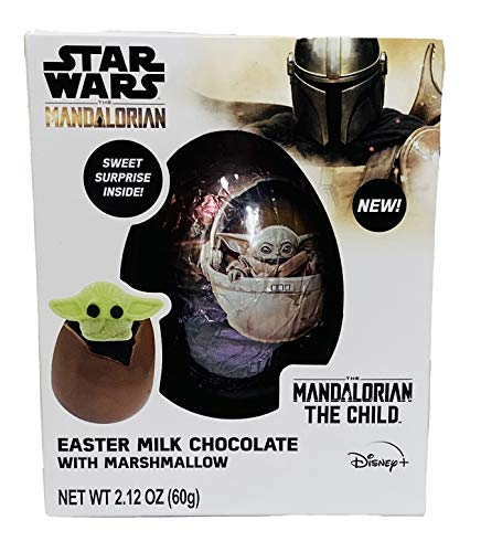 Star Wars The Mandalorian Easter Milk Chocolate Ball filled with Surprise The Child Marshmallow Treat 212 Ounce