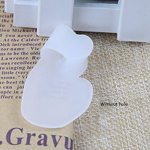 Bluelover 1Pair Silicone Gel Piccolo Separatore Alluce Borsite Correzione Piedi Piedi Osso Cura Massaggio - 1