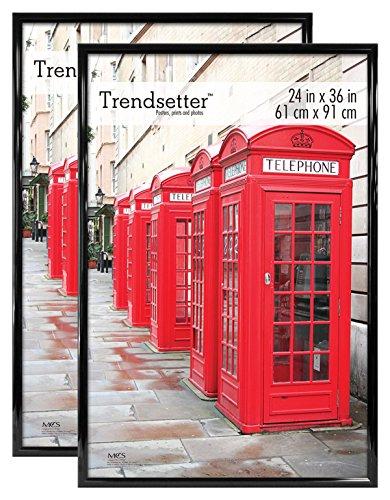 MCS, Black, 24 x 36 Inch Trendsetter Poster Frame, 2-Pack, 24 x 36