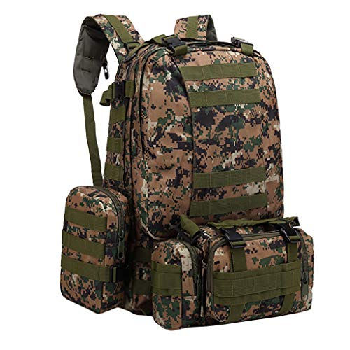Ecurson Military Expandable Travel Backpack Tactical/Waterproof Backpack 55L