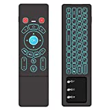 ILEBYGO Air Mouse for Android tv Box, Rechargeable Mini Wireless Keyboard and Air Remote Control Touchpad with RGB Backlit T6 for Android TV Box, PC, Projector, HTPC etc.