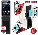 Hülle für Ulefone Be Touch 3 Tasche Cover Case Bumper   Rot Leder   Testsieger