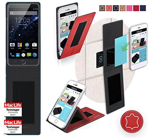 Hülle für Ulefone Be Touch 3 Tasche Cover Case Bumper | Rot Leder | Testsieger