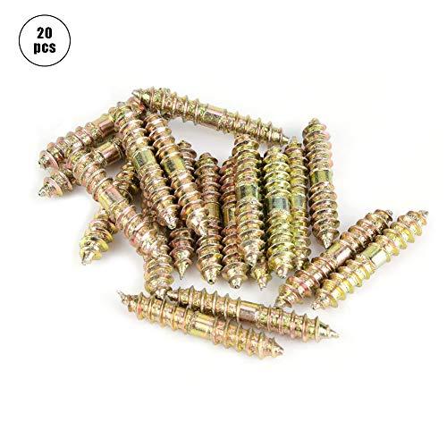 Doppelseitige Möbelschraube, Hohe Qualität 5x30mm Dübelschraube Holzbearbeitung Der Möbelverbinder Doppelseitige Schraube für Industrielle (20 stücke)