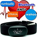 BerryKing Heartbeat Bluetooth & Ant+ HRM para Garmin Polar Wahoo RUNTASTIC Strava ENDOMONDO Tomtom Apple iPhone Android Chest Strap Heart Rate Sensorara Equipos de Fitness
