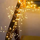 Guirnalda Luces 2 M 5M alambre de cobre cadena luces LED petardo Hada Garland ligero for el partido de la ventana Navidad de la boda con pilas ( Emitting Color : Warm White , Wattage : 2m 100leds )