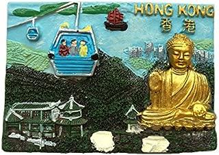 3D仏像冷蔵庫マグネット、香港ディズニー観光記念品、観光名所冷蔵庫マグネット、クリエイティブホーム&キッチンデコレーション