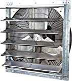 iLiving - 24' Wall Mounted Exhaust Fan - Automatic Shutter - Variable Speed - Vent Fan For Home Attic, Shed, or Garage Ventilation, 4244 CFM, 6200 SQF Coverage Area