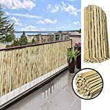 GDMING Pantalla para BalcónProtección Visual Valla De Bambú Al Aire Libre Durable A Prueba De La Intemperie para Jardín Cubierta Patio Porche Sombrilla, 18 Tamaños (Color : Natural, Size : 1.3x1m)