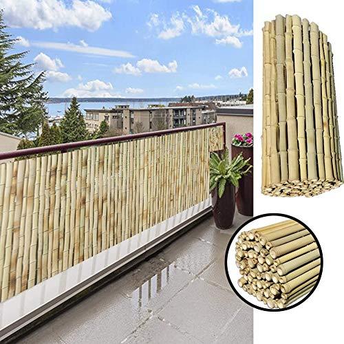 GDMING Pantalla para BalcónProtección Visual Valla De Bambú Al Aire Libre Durable A Prueba De La Intemperie para Jardín Cubierta Patio Porche Sombrilla, 18 Tamaños (Color : Natural, Size : 1.3x3m)