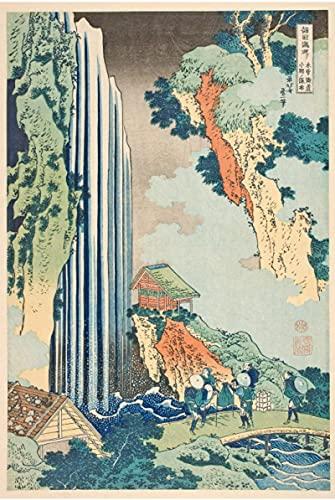 WYMADAL Puzzle De 1000 Piezas para Adultos Infantiles Cataratas De Agua Japonesa Katsushika Hokusai Rompecabezas De Madera,Educación Inteligencia Juguete,Colección De Juegos Familiares Regalo Q-01346