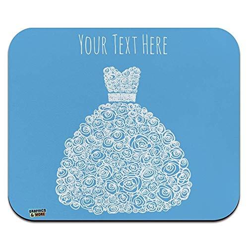 Personalisierte benutzerdefinierte 1 linie brautkleid low profile thin mouse pad mousepad