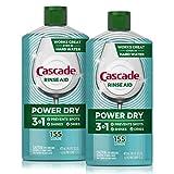 4. Cascade Power Dry Dishwasher Rinse Aid, 16 Fl Oz, 2 Count