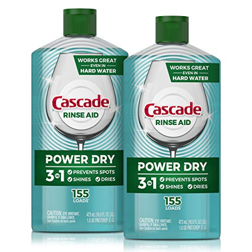 Cascade Power Dry Dishwasher Rinse Aid, 16 Fl Oz, 2 Count