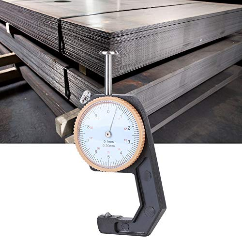 Calibrador de esfera redonda Práctico Preciso Fácil de usar Medidor de espesor de 0-20 mm Amplia aplicación Implemento de medición para herramientas manuales Herramientas(Pointed)
