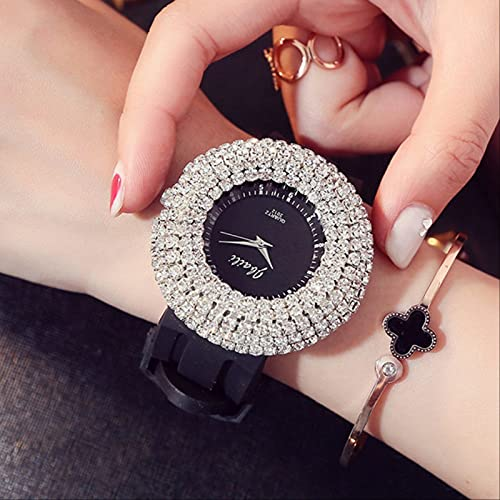 QWYU Relogio Feminino Relojes Mujeres Rhinestone Relojes de Pulsera de las Señoras Casual Vestido Reloj Montre Femme Saat Hodinky Estilo 1