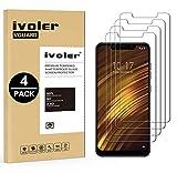 ivoler [4 Stücke] Panzerglas Schutzfolie für Xiaomi Pocophone F1, 9H Festigkeit, Anti- Kratzer, Bläschenfrei, [2.5D R&e Kante]