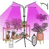 Tinked 40W 80LEDs Grow Light con Bombillas de luz Azul roja Temporizador 4/8 / 12H 9 Niveles de Brillo para plántulas de Plantas de Interior Lámparas de Cultivo de Plantas de cuelLuz De La Planta