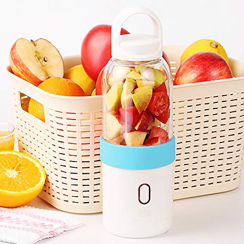 Smoothie Maker, 550ml Mixer Tragbar Entsafter, Mini Blender Multifunctional USB Wiederaufladbar mit 6 Edelstahlmesser, Obst und Gemüse, Zuhause, Büro, Sport, BPA Frei,A