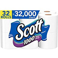 32 toilet paper rolls (4 packs of 8) with 1,000 sheets per roll = 32,000 sheets Breaks up 4Xs faster than the average bathroom tissue Sewer-safe and septic-safe, 1-ply toilet tissue Bathroom tissue paper - safe for RV and boat use Sustainably Sourced...