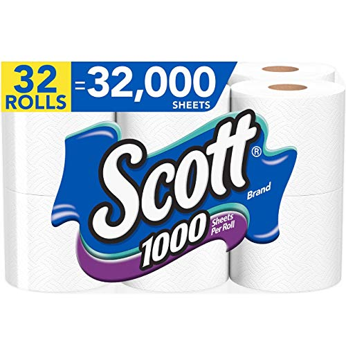 Subscribe And Save Deal – Scott 1000 Sheets per Roll, 4 Packs of 8 Rolls (32 Rolls Total), Septic Safe Bath Tissue.