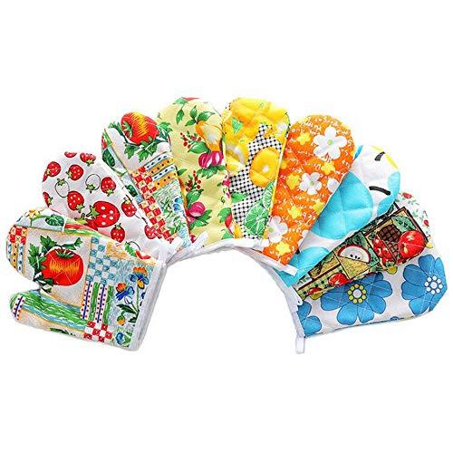 RoxTop Küchen-Backen-Schutzausrüstung Mikrowelle Handschuhe isolierte Handschuhe Anti-Hot-Handschuhe Ofen Handschuhe 1 Packung Zufällige Farbe