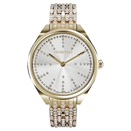 Swarovski Attract Uhr, Metallarmband, weiß, goldfarbenes PVD 5610484