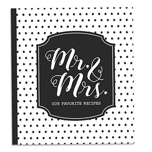 Brownlow Gifts 64288 Gifts Recipe Binder Set, 8' x 9', Mr. & Mrs