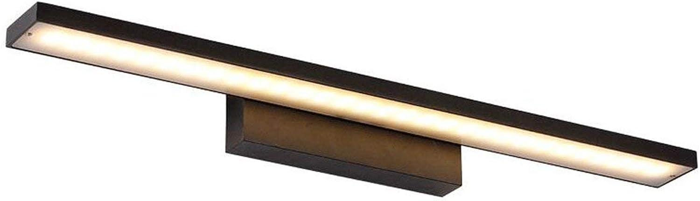Geführte Spiegel-Lampen-Badezimmer-Spiegel-Licht, einfache moderne wasserdichte Nebel-Bad-Spiegel-Lampe (Farbe   schwarz-Warm light-40CM)
