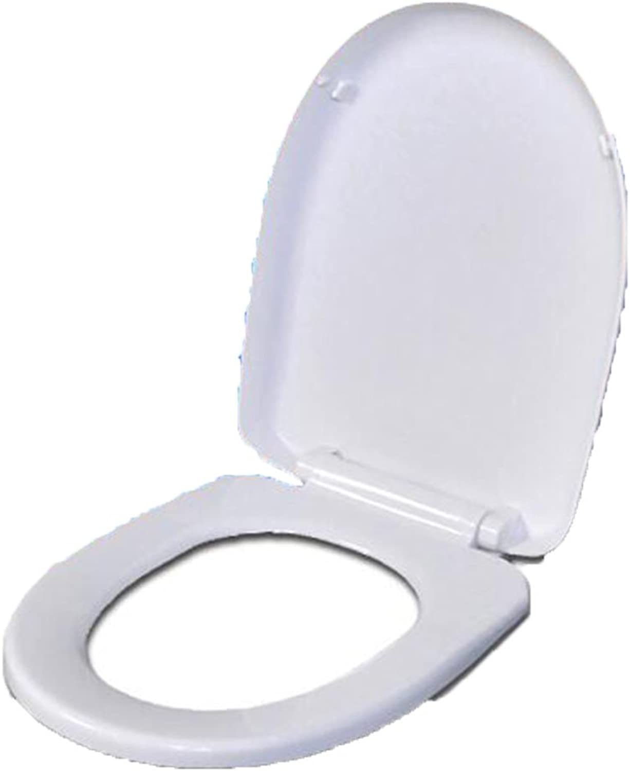 Toilet Seat U Soft Close Toilet Cover With Zinc Hinge For Bathroom Washroom Restroom,White-342  436mm