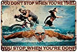 Hucuery Wanddekoration für Schwimmer, Fahrrad-Rennfahrer