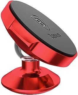 Suporte Magnético Adesivo 360º Small Ears Tipo Vertical, Baseus, Suer-B09, Vermelho