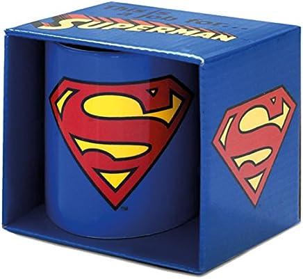 Preisvergleich für LOGOSHIRT - Tasse Superman - DC Comics - Superman Logo Kaffeebecher - blau - Lizenziertes Originaldesign