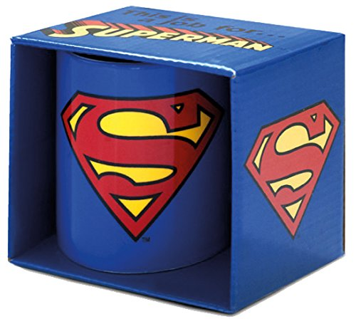 LOGOSHIRT - Tasse Superman - DC Comics - Superman Logo Kaffeebecher - blau - Lizenziertes Originaldesign