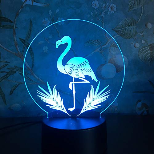 3D Flamingo LED Night Light 3 Modes Table Lamps Home Christmas Wedding Decoration Kids Birthday Holiday Gifts