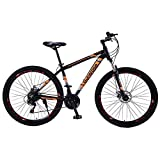 29 Pulgadas Aluminio Aleación Montaña Bicicletas Adulto Niños Montaña Sendero Bicicleta Completo Suspensión Marco Bicicletas Variable Velocidad Fuera del Camino Conmoción Absorción Carreras,Naranja