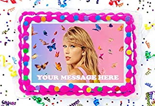 Taylor Swift Cake Topper Edible Image Personalized Cupcakes Frosting Sugar Sheet (8