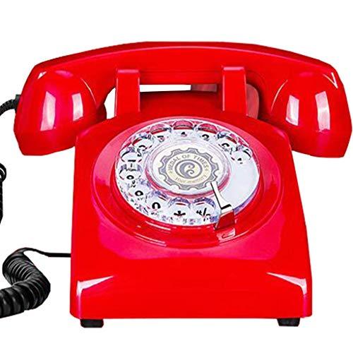DGHJK Teléfono con Cable, teléfono Retro Europeo/Tocadiscos Retro para teléfono residencial/teléfono Fijo...