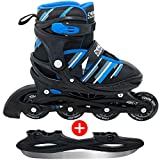 DEHLZER Inline Roller Skates for Kids & Adults – Convertible into Ice Skates – Cary Bag Included,...