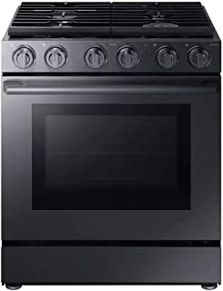 Samsung NX58M9960PM Chef Collection 5.8 Cu. Ft. Matte Black Stainless Gas Range NX58M9960PM/AA